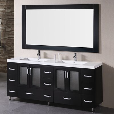 "Stanton 72"" Double Bathroom Vanity Set with Mirror Product Photo"