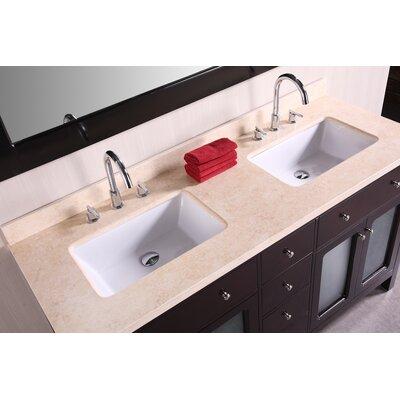 """Design Element Venetian 61"""" Double Bathroom Vanity Set"""