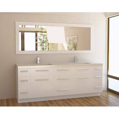 "Moscony 84"" Double Bathroom Vanity Set with Mirror Product Photo"