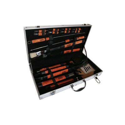 Pushette Professional 18 Piece BBQ Tool Set by Deluxe Comfort