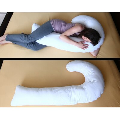 J Full Body Pillow with Hypoallergenic Synthetic Fiber Filler by Deluxe Comfort