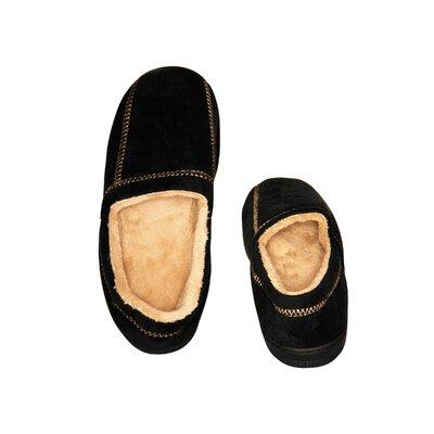 Suede Fleece Men's Slipper by Deluxe Comfort
