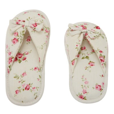 Floral Peonies Printed Cotton Women's Memory Foam Slipper by Deluxe Comfort
