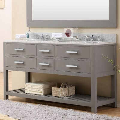 "Madalyn 60"" Double Sink Bathroom Vanity Product Photo"