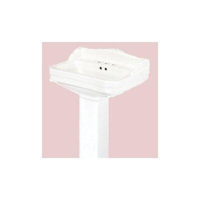 Foremost Series 1920 Petite Pedestal Bathroom Sink (Basin Only)
