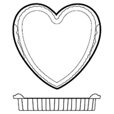Non-Stick Silicone Heart Mold by Paderno World Cuisine