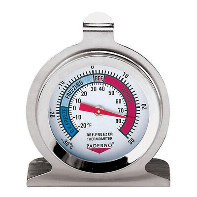 Stainless Steel Refrigerator/Freezer Thermometer by Paderno World Cuisine