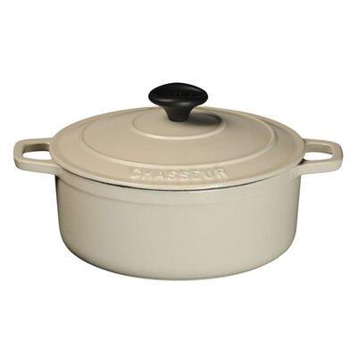Matte Meringue Cast Iron Round Dutch Oven by Paderno World Cuisine