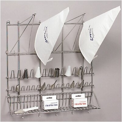 Paderno World Cuisine Stainless Steel Pastry Bag and Tip Dryer