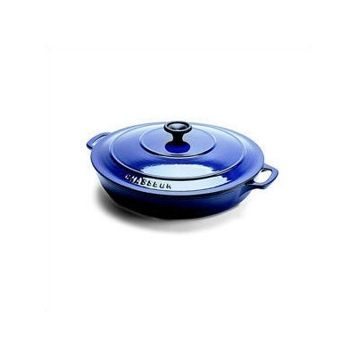 Stainless Steel 3 Qt. Cast Iron Round Dutch Oven by Paderno World Cuisine