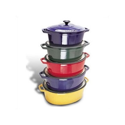 8 Qt. Cast Iron Oval Dutch Oven by Paderno World Cuisine