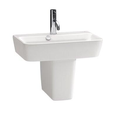 Bissonnet Emma Semi Pedestal Ceramic Bathroom Sink