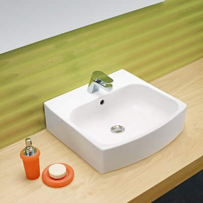 Universal Club Porcelain Bathroom Sink with Overflow by Bissonnet