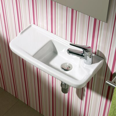 Universal Oxigen Wall Hung Ceramic Bathroom Sink Product Photo