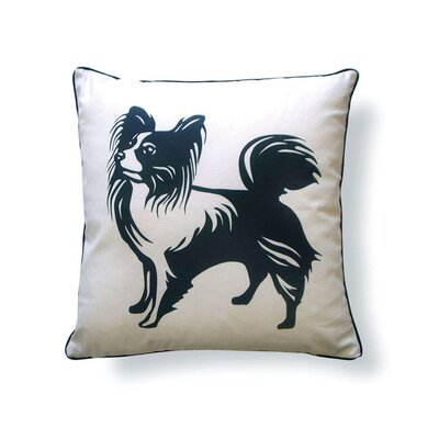 Naked Decor Papillon Double Sided Cotton Throw Pillow