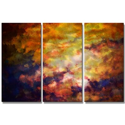 'Opal Sunset' by Christopher Price 3 Piece Painting Print Plaque Set by All My Walls ...