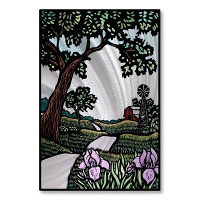 'Iris' by the Road' by John Schirmer Graphic Art Plaque by All My Walls