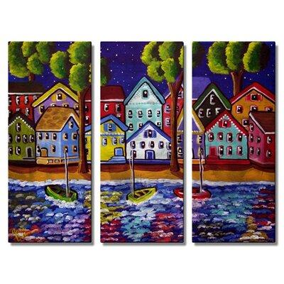 'Shoreline Reflections' by Renie Britenbucher 3 Piece Graphic Art Plaque Set by All My Walls ...