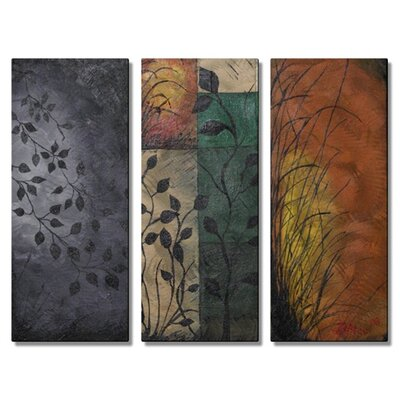 'Sea Grass' by Daniel MacGregor 3 Piece Graphic Art Plaque Set by All My Walls ...