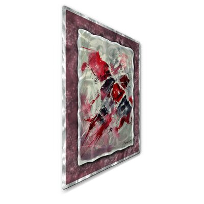 All My Walls 'Crimson Feeling' by Pol Ledent Original Painting on Metal Plaque