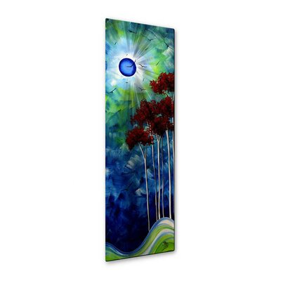 All My Walls 'Tropical Night' by Megan Duncanson Original Painting on Metal Plaque