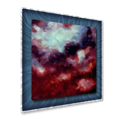 All My Walls 'Echoes I' by Keith Burnett Original Painting on Metal Plaque