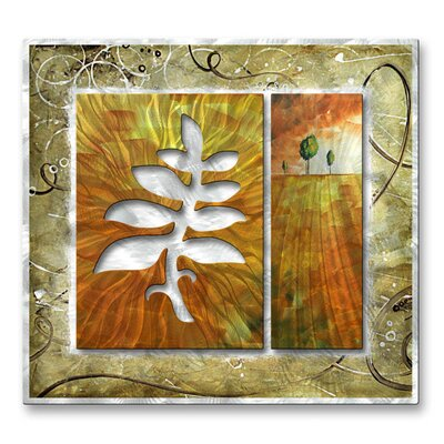 All My Walls 'Branch and The Hill' by Megan Duncanson Original Painting on Metal Plaque