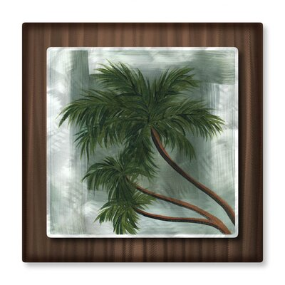 All My Walls 'Tropical Splash I' by Megan Duncanson Original Painting on Metal Plaque