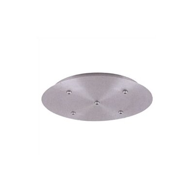 LBL Lighting Fusion Jack Five Port Round LED Canopy in Satin Nickel