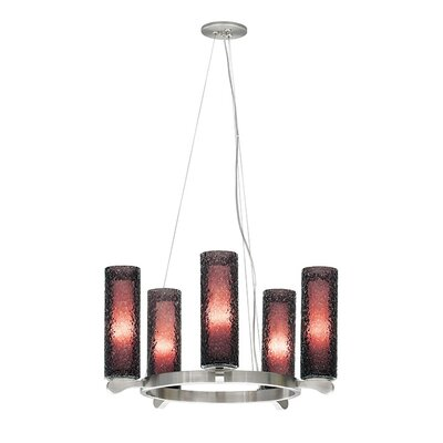 Rock Candy 5 Light Candle Chandelier by LBL Lighting