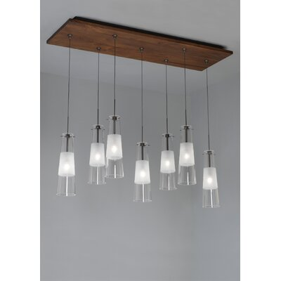 Fusion Jack Seven Port Wood Rectangle Canopy in Bronze by LBL Lighting