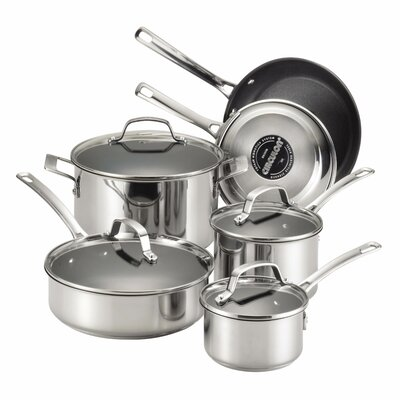 Genesis 10 Piece Stainless Steel Cookware Set by Circulon