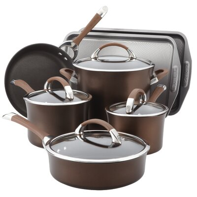 Symmetry Hard Anodized Nonstick 11 Piece Cookware & Bakeware Set by Circulon