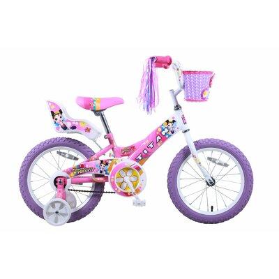 "Titan Girls 16"" Flower Princess Pink and White BMX Bike with Training Wheels"