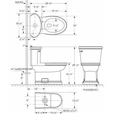 Danze® Orrington 1.6 GPF Elongated 1 Piece Toilet