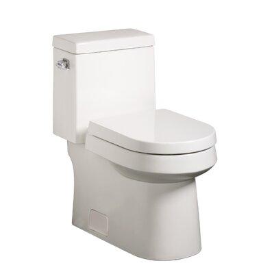 Ziga Zaga High Efficiency 1.28 GPF Elongated 1 Piece Toilet Product Photo
