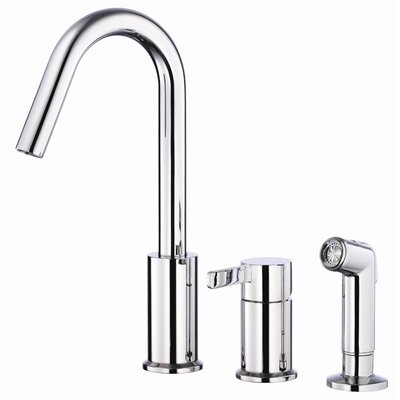 Amalfi Single Handle Deck Mount Kitchen Faucet with Spray Product Photo