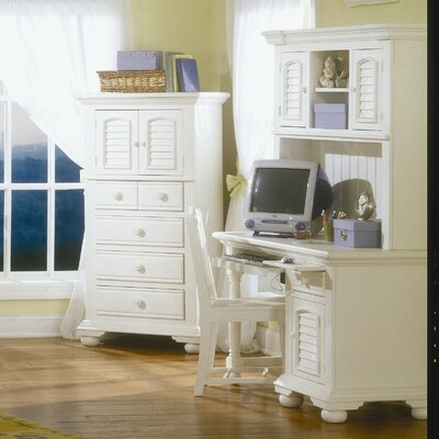 American Woodcrafters Cottage Computer Desk with Hutch