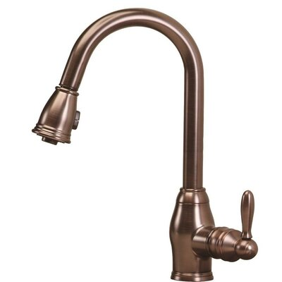 Newbury One Handle Single Hole Pull Out Spray Kitchen Faucet by Pegasus