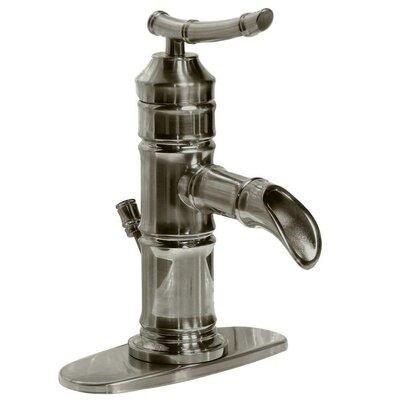 Bamboo Single Handle Centerset Bathroom Faucet Product Photo