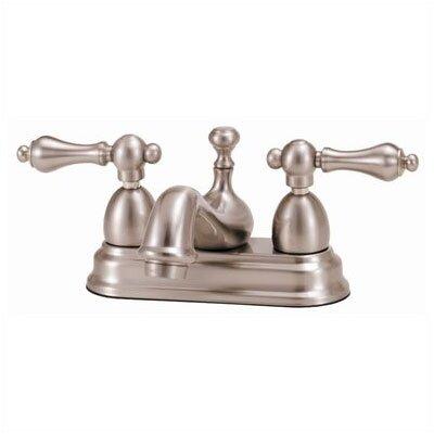 Elizabethan Classics Centerset Bathroom Faucet with Double Metal Lever Handles