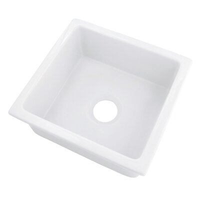 "18"" x 17.75"" Fireclay Undermount Bar Sink Product Photo"