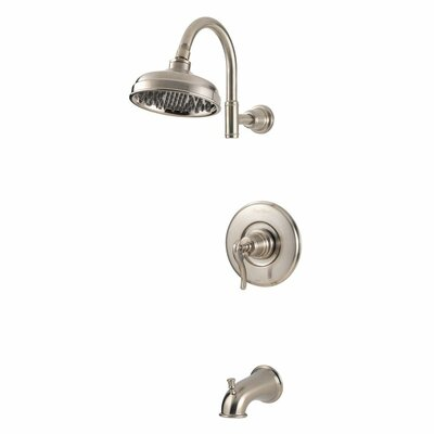 Ashfield Diverter Tub and Shower Faucet Trim with Lever Handle Product Photo