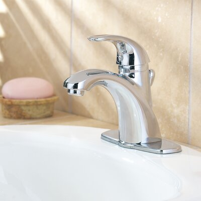 Parisa Single Handle Single Hole Standard bathroom faucet with Flex-Line Supply Lines and Metal ...