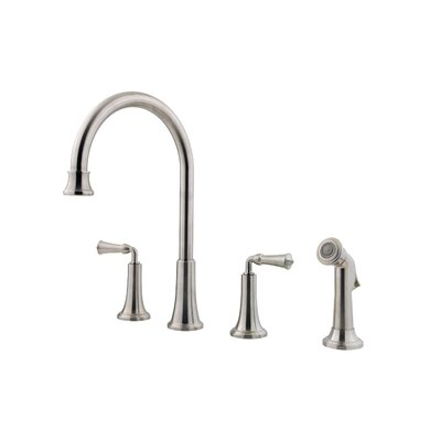 Bellport Double Handle Deck Mounted Kitchen Faucet with Matching Side Spray Product Photo