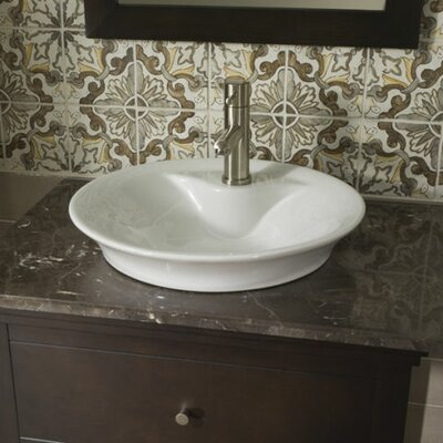 Over The Counter Sinks : Morning Above Counter Bathroom Sink with Front Overflow by American ...