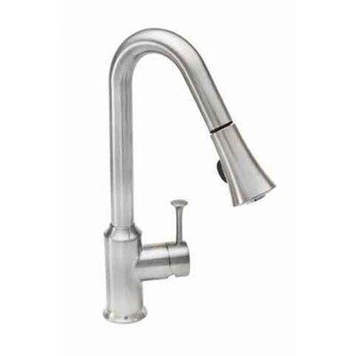 Pekoe Single Handle Single Hole Pull Down Kitchen Faucet with Pull Down Spray Product Photo