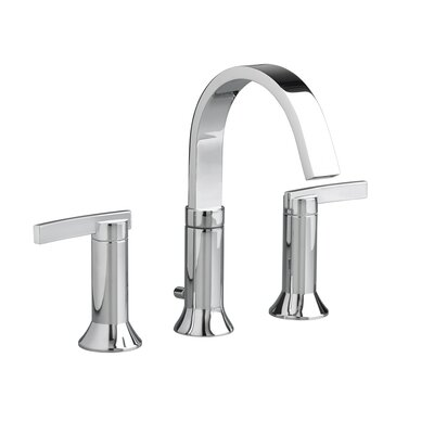 2 Handle High Arc Widespread Bathroom Faucet with Speed Connect Drain Product Photo
