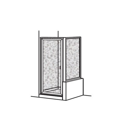 "Prestige 72"" x 36"" Pivot Framed Hinged Shower Door with 0.9 Return Panel Product Photo"