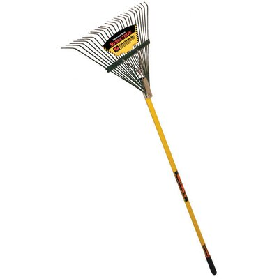 "Seymour 54"" Fiberglass Handle 24 Tine Lawn Rake"